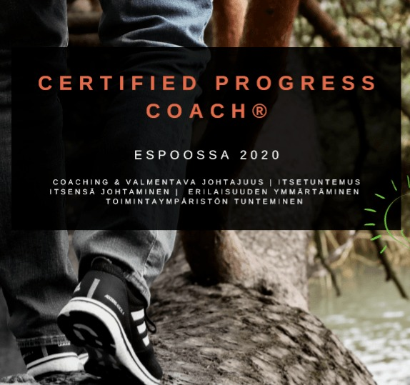 Certified Progress Coach kuva esitteestä